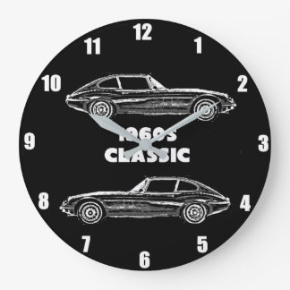 1960s E Type Jaguar Wall Clock