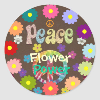 1960s: Flower Power and Peace sticker
