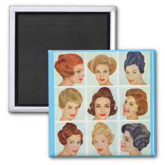 1960s hairstyles grid magnet