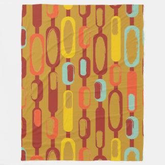 1960s Kooky Abstract Oblong Object Fleece Blanket