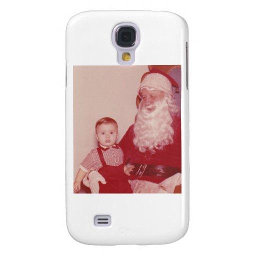 1960's Little Boy and Santa Samsung Galaxy S4 Cases