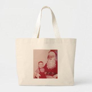 1960's Little Boy and Santa Jumbo Tote Bag