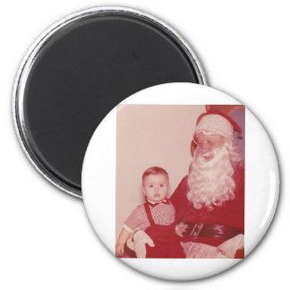 1960's Little Boy and Santa Fridge Magnet