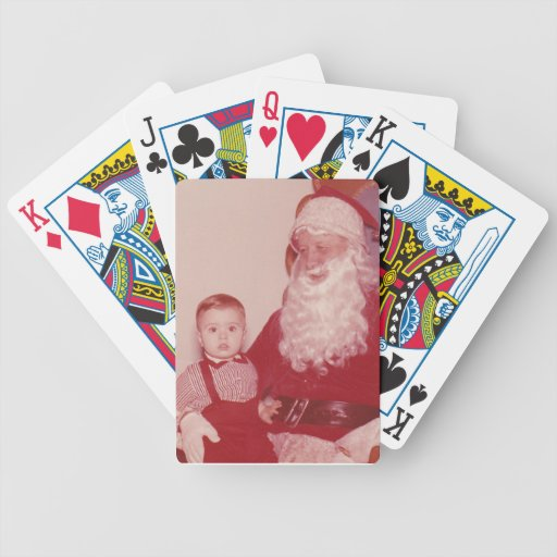 1960's Little Boy and Santa Bicycle Poker Cards
