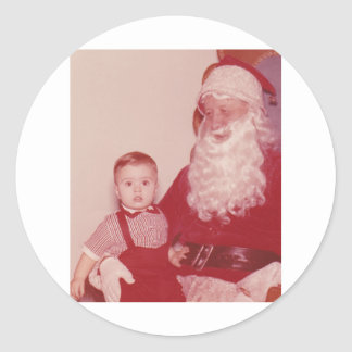1960's Little Boy and Santa Stickers
