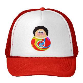 1960's Peace Sign Cartoon Character Kid Mesh Hats
