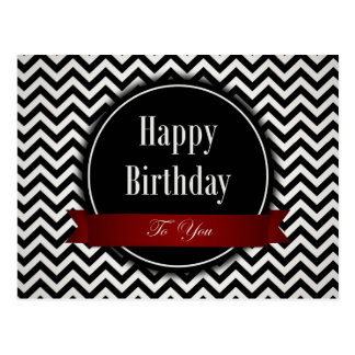 1960s Style Black and White - Birthday Day Postcard