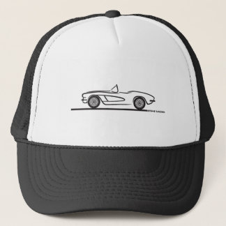 1961 1962 Chevrolet Corvette Trucker Hat