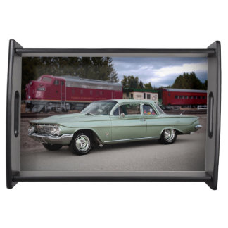 1961 Chevy Chevrolet Biscayne Classic Car Serving Tray
