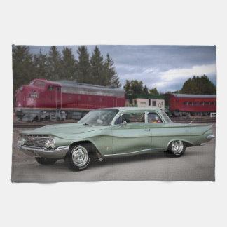 1961 Chevy Chevrolet Biscayne Classic Car Tea Towel
