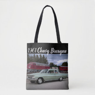 1961 Chevy Chevrolet Biscayne Classic Car Tote Bag