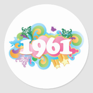 1961 Colorful Stickers Gift