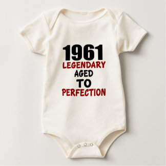 1961 LEGENDARY AGED TO PERFECTION BABY BODYSUIT