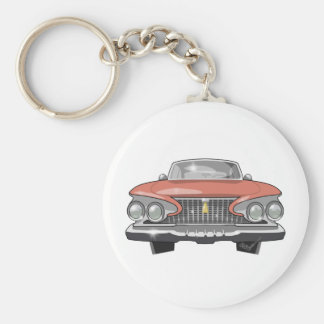 1961 Plymouth Fury Basic Round Button Key Ring