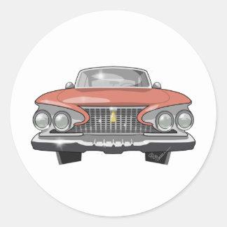 1961 Plymouth Fury Classic Round Sticker