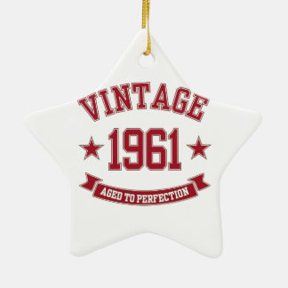 1961 Vintage Aged To Perfection Ceramic Star Decoration