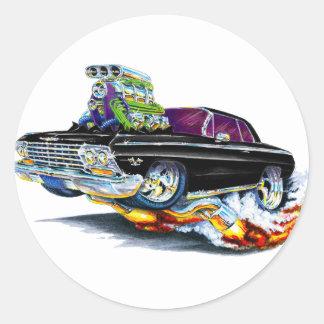 1962-63 Impala Black Car Classic Round Sticker