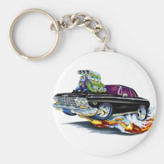 1962-63 Impala Black Car Basic Round Button Key Ring