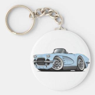 1962 Corvette Lt Blue Convertible Key Ring