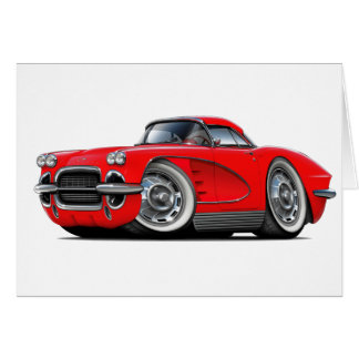 1962 Corvette Red Car Card