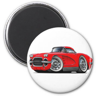 1962 Corvette Red Car Magnet