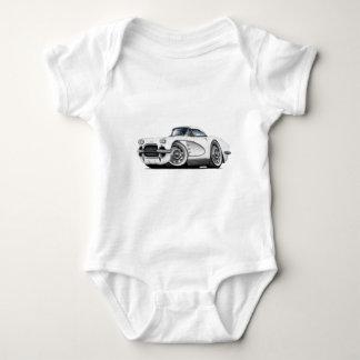1962 Corvette White Car Baby Bodysuit
