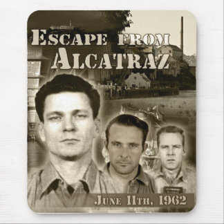 1962 Escape from Alcatraz Mouse Pad