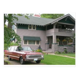 1962 Falcon wagon Postcard