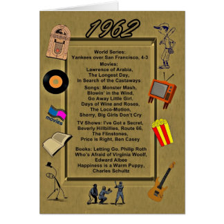 1962 Great Events Birthday Card