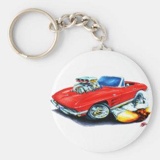 1963-64 Corvette Red Convertible Key Ring