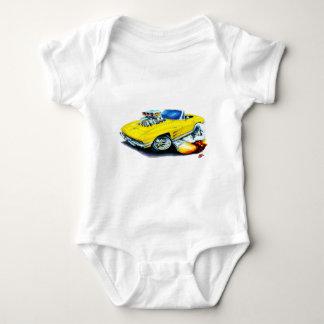 1963-64 Corvette Yellow Convertible Baby Bodysuit