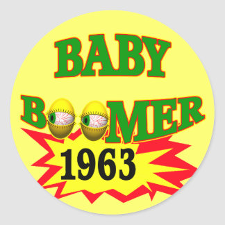 1963 Baby Boomer Round Sticker