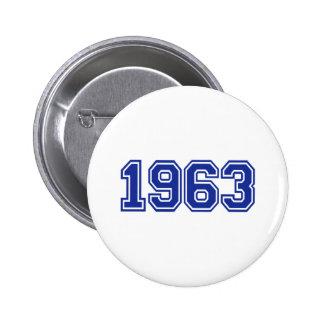 1963 Birthday 6 Cm Round Badge