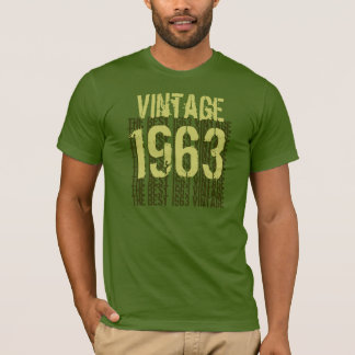 1963 Birthday The Best 1963 Vintage Olive W1998 T-Shirt