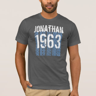 1963 Birthday Year Best 1963 Vintage Blue G200 T-Shirt