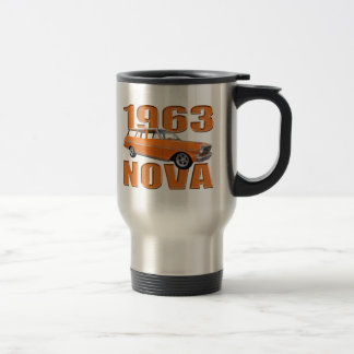 1963 chevy II nova longroof wagon in orange Travel Mug