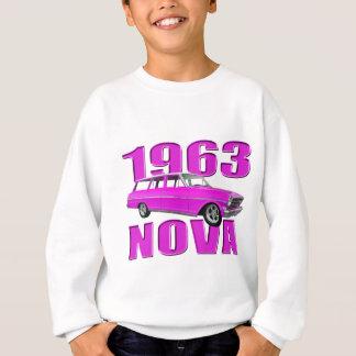 1963 chevy II nova longroof wagon neon pink Sweatshirt