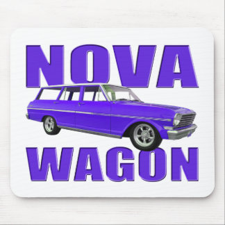 1963 chevy II nova wagon blue Mouse Pad