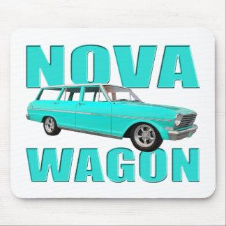 1963 chevy II nova wagon light blue Mouse Pad
