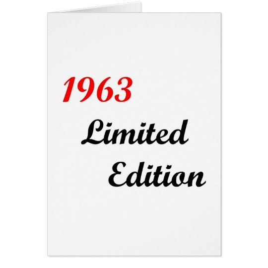 1963 Limited Edition Card