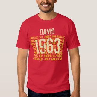 1963 Mature Full Bodied Vintage 50th Gift for Him Tee Shirt