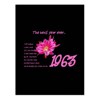 1963 OLDIES Anniversary Birthday Reunion Gift Postcard
