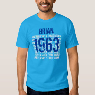 1963 or Any Year 50th Birthday Gift Blue Shirts