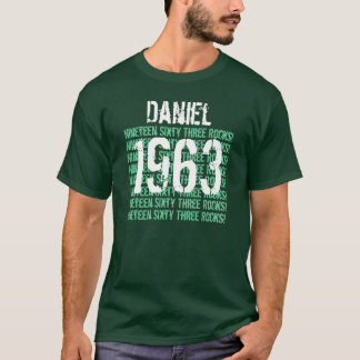 1963 or Any Year 50th Birthday Gift Green T-Shirt