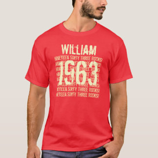 1963 or Any Year 50th Birthday Gift Red T-Shirt