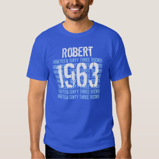 1963 or Any Year 50th Birthday Gift Royal Tee Shirts