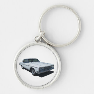 1963 Plymouth coupe Silver-Colored Round Key Ring