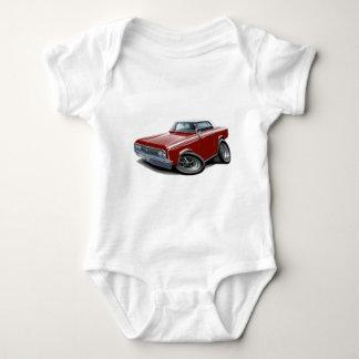 1964-65 Cutlass Maroon-White Car Baby Bodysuit