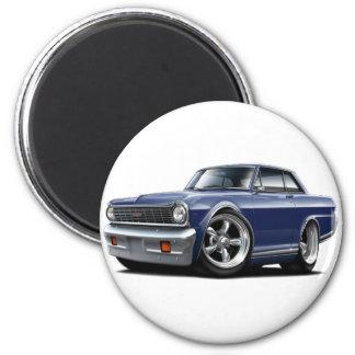 1964-65 Nova Dk Blue Car 6 Cm Round Magnet