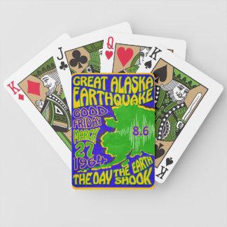 1964 ALASKA EARTHQUAKE RETRO POSTER~ PLAYING CARDS